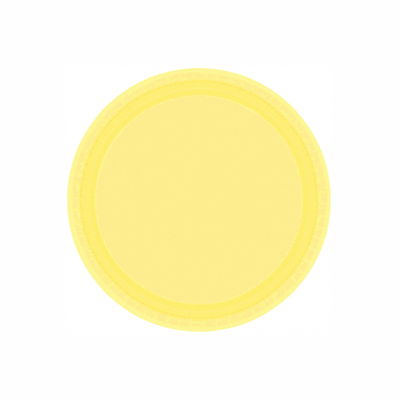 Light Yellow Paper Dinner Plate 9