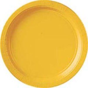"Yellow Paper Dinner Plate 9"" - 20 Pack"