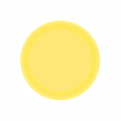 Light Yellow Paper Dessert Plate 7