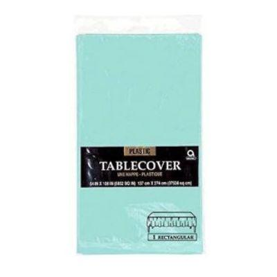Robin's Egg Blue Plastic Tablecover 54