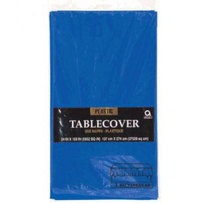 Royal Blue Plastic Tablecover 54