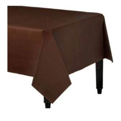 Chocolate Brown Plastic Tablecover 54