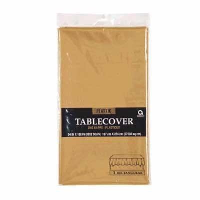 Gold Sparkle Plastic Tablecover 54