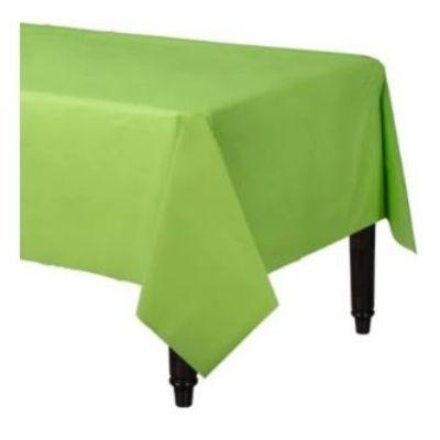 Kiwi Green Plastic Tablecover 54