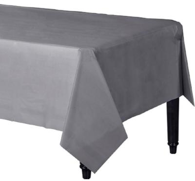 Silver Sparkle Plastic Tablecover 54