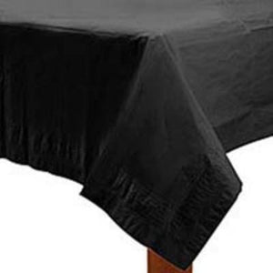 "Jet Black Paper Tablecover 54"" x 108"""