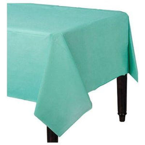"Robin's Egg Blue Paper Tablecover 54"" x 108"""