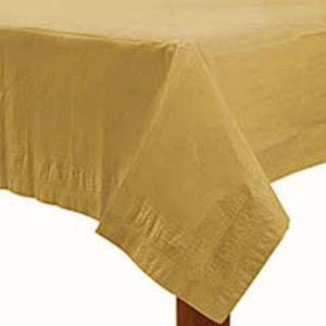 "Gold Sparkle Paper Tablecover 54"" x 108"""