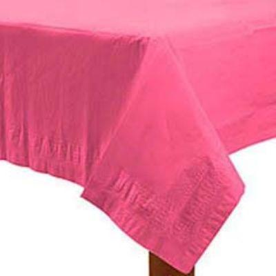 Bright Pink Paper Tablecover 54