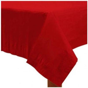 "Apple Red Paper Tablecover 54"" x 108"""