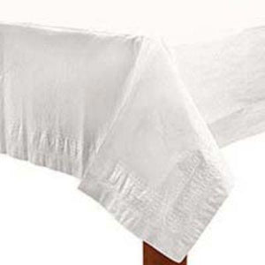 "Frosty White Paper Tablecover 54"" x 108"""