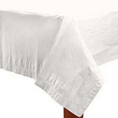 Frosty White Paper Tablecover 54