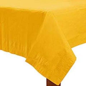 "Yellow Paper Tablecover 54"" x 108"""