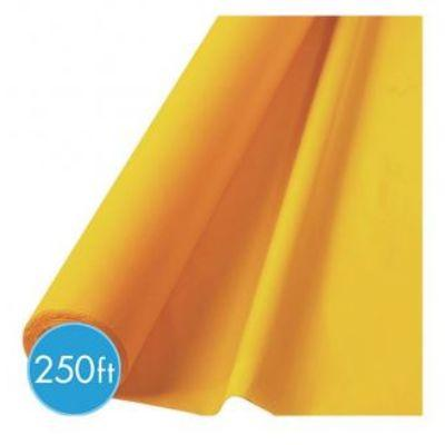 (Curbside Pick-Up Only) Yellow Sunshine Plastic Tablecover Roll 250'