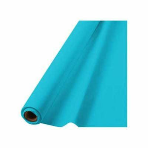 In-Store Only - Caribbean Blue Plastic Tablecover Roll 100'