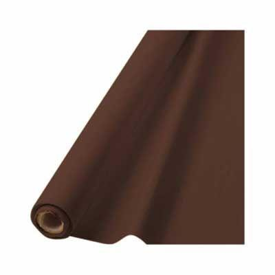 In-Store Only - Chocolate Brown Plastic Tablecover Roll 100'