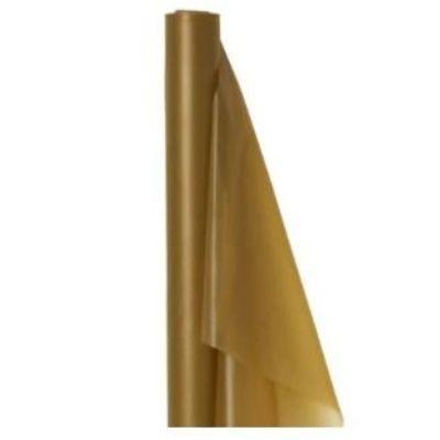 (Curbside Pick-Up Only) Gold Sparkle Plastic Tablecover Roll 100'