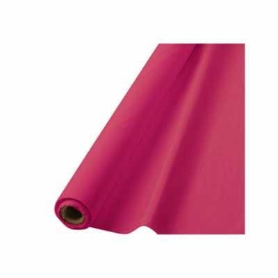 Bright Pink Plastic Table Roll 100'