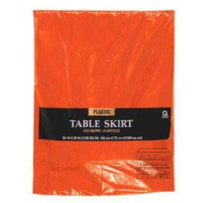 Orange Peel Plastic Tableskirt 14'