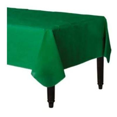 Festive Green Flannel Tablecloth 52