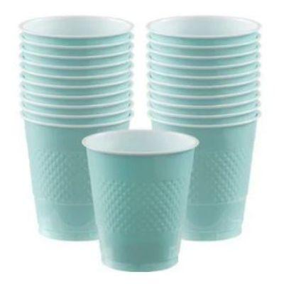 Robin's Egg Blue Plastic Cup 12 oz. - 20 Pack