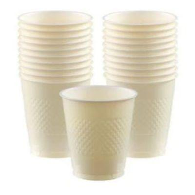 Ivory White Plastic Cups 12 oz. - 20 Pack
