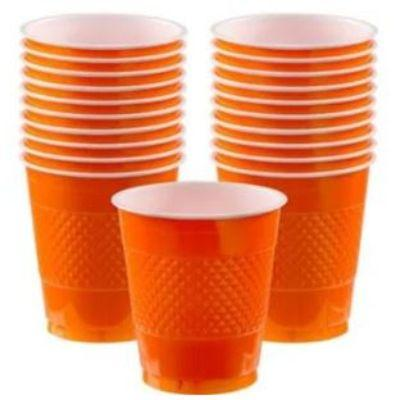 Orange Peel Plastic Cup 12 oz. - 20 Pack