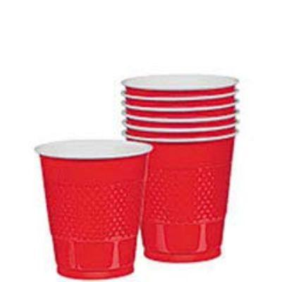 Apple Red Plastic Cup 12 oz. - 20 Pack