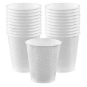 Frosty White Plastic Cups 12 oz. - 20 Pack