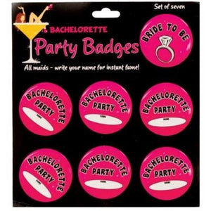 Bachelorette Party Badges - 6 Pack