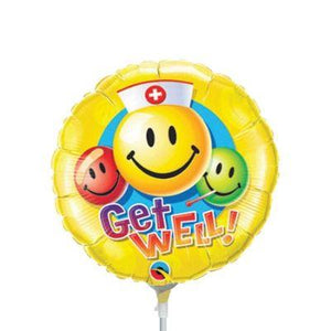 "Mylar 18"" Get Well Smiley Face"