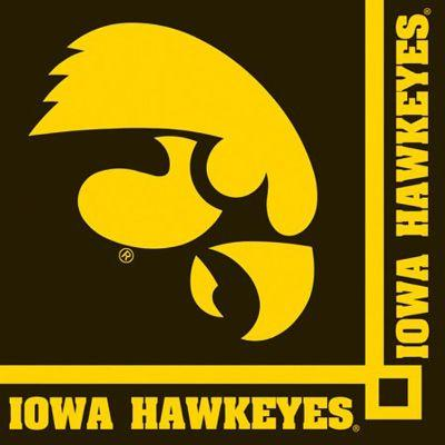 Iowa Hawkeyes Beverage Napkin