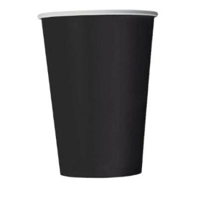 Midnight Black Paper Cup 9 oz. - 14 Pack