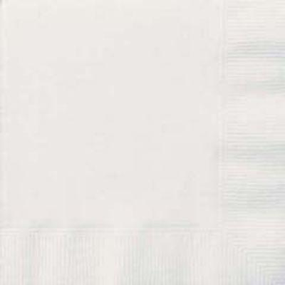 Bright White Beverage Napkin 20 Pack