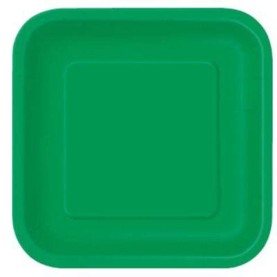 Emerald Green Paper Square Plate 7