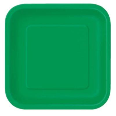 Emerald Green Paper Square Plate 9