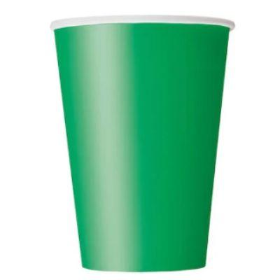 Emerald Green Paper Cup 9 oz. - 14 Pack