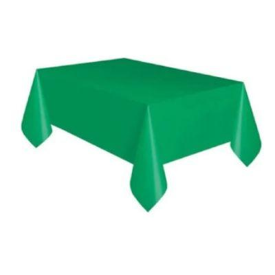 Emerald Green Plastic Tablecover 54
