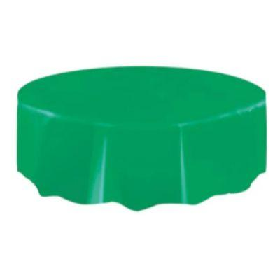 Emerald Green Plastic Round Tablecover 84