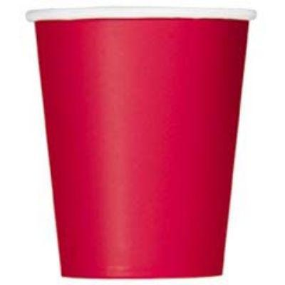 Ruby Red Paper Cup 9 oz. - 14 Pack