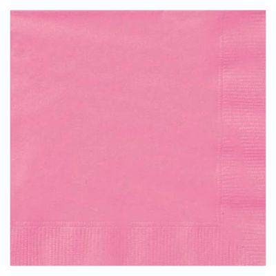 Hot Pink Beverage Napkin - 20 Pack