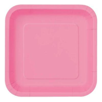 Hot Pink Paper Square Plate 7