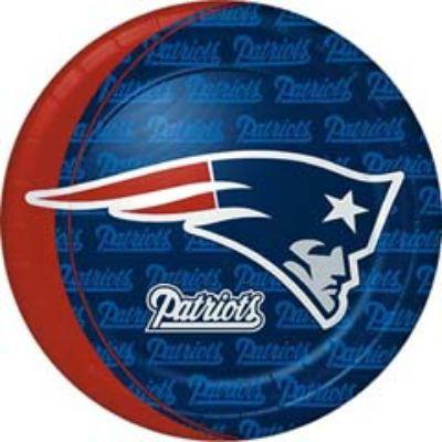 NFL New England Patriots Dinner Plate - 8 Pack