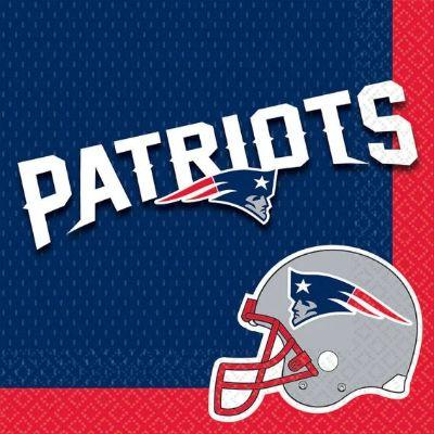 NFL New England Patriots Luncheon Napkin - 16 Pack