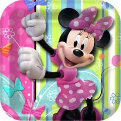 MINNIE MOUSE PLATE DS SQ PK8