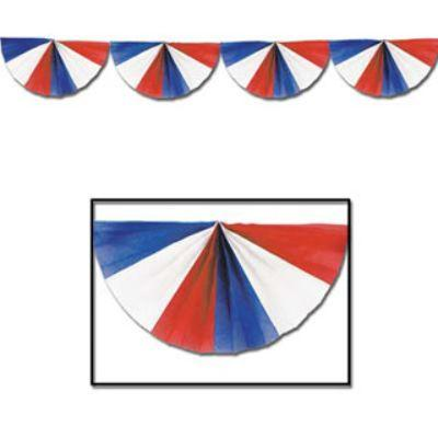 Red White & Blue Fan Garland 9'