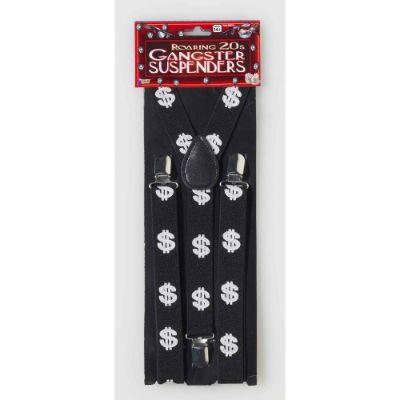 20s Gangster Dollar Sign Suspenders