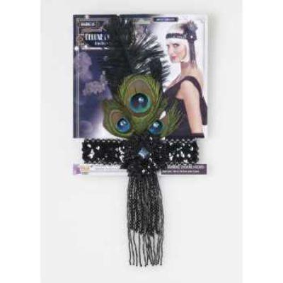20s Flapper Peacock Headband