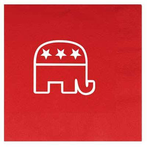 Republican Red Luncheon Napkin - 16 Pack