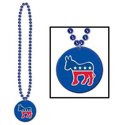 Democratic Medallion Bead Necklace 33